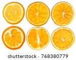 dried oranges isolated on white