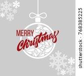 lettering merry christmas....   Shutterstock .eps vector #768385225