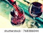 valentine's day  date  love ... | Shutterstock . vector #768386044