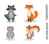 woodland animals wild icon   Shutterstock .eps vector #768394495