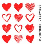 vector hand drawn collection of ... | Shutterstock .eps vector #768394819