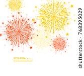 vector firework design on white ... | Shutterstock .eps vector #768395029