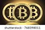 face of the cryptocurrency... | Shutterstock . vector #768398011