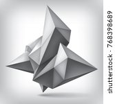 volume geometric shape  3d... | Shutterstock . vector #768398689
