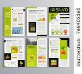 business brochure template... | Shutterstock .eps vector #768403165