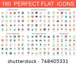 180 modern flat icons set of... | Shutterstock .eps vector #768405331