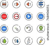 line vector icon set   sign... | Shutterstock .eps vector #768406051