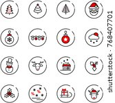 line vector icon set  ... | Shutterstock .eps vector #768407701