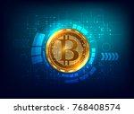 futuristic digital background... | Shutterstock .eps vector #768408574