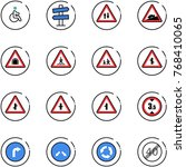 line vector icon set   disabled ... | Shutterstock .eps vector #768410065