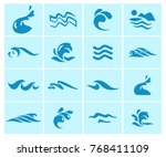 vector collection of flat water ... | Shutterstock .eps vector #768411109