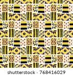 seamless vector pattern.... | Shutterstock .eps vector #768416029