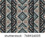tribal vector ornament.... | Shutterstock .eps vector #768416035