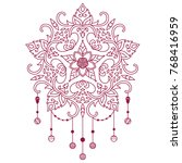 tattoo for shoulder  waist ... | Shutterstock .eps vector #768416959