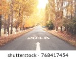 road to new year 2018 | Shutterstock . vector #768417454