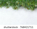christmas background with... | Shutterstock . vector #768421711