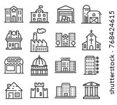 set of public  government and... | Shutterstock .eps vector #768424615