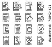 mobile apps vector icon. flat... | Shutterstock .eps vector #768424621