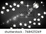 set of garland  lights  lantern ... | Shutterstock .eps vector #768425269