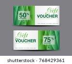 discount voucher template ... | Shutterstock .eps vector #768429361