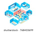 people work in a team and... | Shutterstock .eps vector #768433699