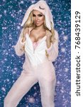 beautiful sexy blonde woman... | Shutterstock . vector #768439129