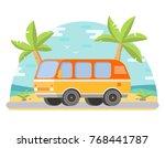 tropical landscape palm trees... | Shutterstock .eps vector #768441787