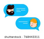 man chatting with woman. vector ... | Shutterstock .eps vector #768443311