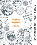 breakfasts and brunches top... | Shutterstock .eps vector #768451579