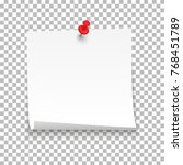 white sheet of note paper with... | Shutterstock .eps vector #768451789