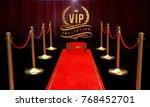 red carpet  golden vip... | Shutterstock . vector #768452701