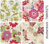 seamless floral pattern | Shutterstock . vector #76845271