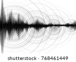 super circle vibration with... | Shutterstock .eps vector #768461449