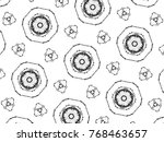 black and white mosaic pattern... | Shutterstock . vector #768463657