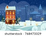 merry christmas and happy new... | Shutterstock .eps vector #768473329