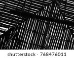 pattern of a wooden roof of a... | Shutterstock . vector #768476011