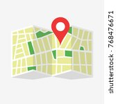 location map icon. location map ... | Shutterstock .eps vector #768476671
