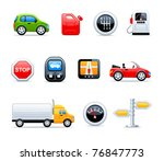 vector car icons | Shutterstock .eps vector #76847773