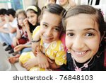 large group  crowd  lot of... | Shutterstock . vector #76848103