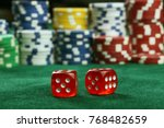 dice  lottery  gambling and... | Shutterstock . vector #768482659