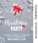 christmas party poster... | Shutterstock .eps vector #768483331