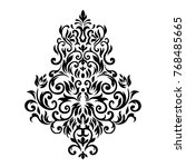 victorian style. ornate element ... | Shutterstock . vector #768485665