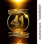 41 years anniversary logo with... | Shutterstock .eps vector #768488365
