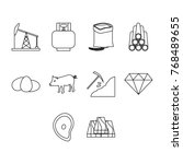 thin line commodities icon set | Shutterstock .eps vector #768489655