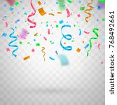 colorful funny flying confetti... | Shutterstock .eps vector #768492661