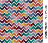 seamless knitted geometric... | Shutterstock .eps vector #768493801