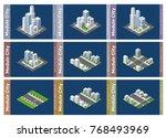 set urban isometric skyscraper... | Shutterstock .eps vector #768493969