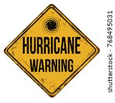 hurricane warning vintage rusty ... | Shutterstock .eps vector #768495031