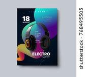 electronic music festival... | Shutterstock .eps vector #768495505