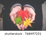 soft focus of red and yellow... | Shutterstock . vector #768497251